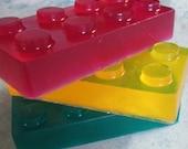 Soap for Children, Fun Building Blocks, 3 Bar Gift Set