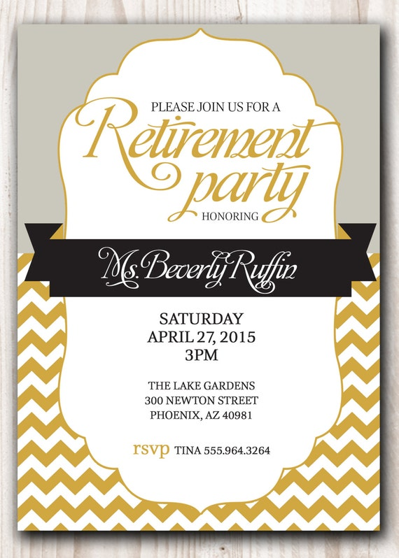 Elegant Retirement Invitations is good invitations example
