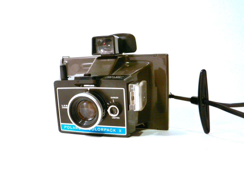 vintage polaroid colorpack ii land camera w case by 1eyedjacks. Black Bedroom Furniture Sets. Home Design Ideas