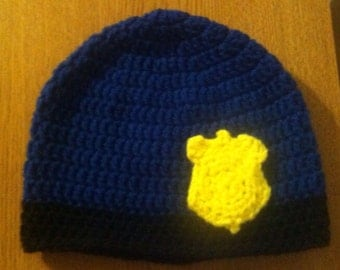 I Want to be a Police Officer Crochet Beanie