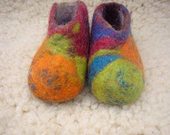 Felted wool slippers for baby or young child