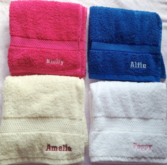 Personalised Embroidered Hand Towels Message Me The Name 50 Cm