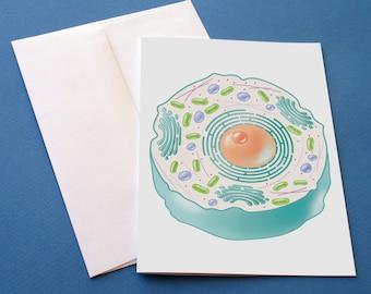 Eukaryotic cell greeting card