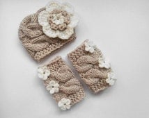 Newborn Outfit Girls -  Baby Girl Hat and Leg Warmers-Newborn Baby Girl -Photography Photo Prop Set -Newborn Leg Warmers and Hat
