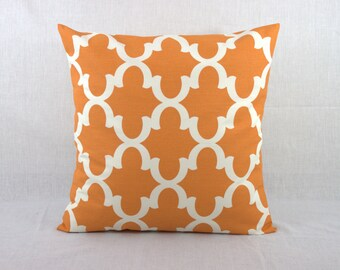 Orange Pillow Cover - Orange Decorative Sofa Pillows Covers - Home Decor Pillows - Floor Pillows