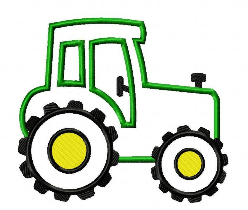 Embroidery Of Tractors : Tractor machine embroidery design