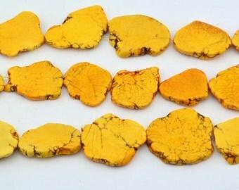 """16""""  Orange  Turquoise  Slab   Nugget   Beads"""