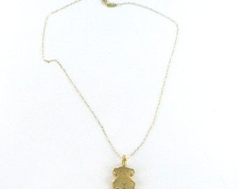 TOUS necklacle and tous bear 18kt yellow gold vintage