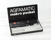 Vintage AGFA Agfamatic 6008 mini spy camera Vintage rare camera, gift for him black white ohtteam, gift for him, electronic toy, film camera