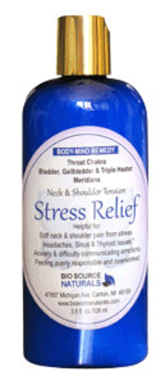 Biosource Naturals Neck & Shoulder Tension Stress Relief Body-Mind Remedy Lotion 3.8 fl. oz. / 108 ml