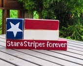 Stars and Stripes forever flag-4th of July mini stackers blocks