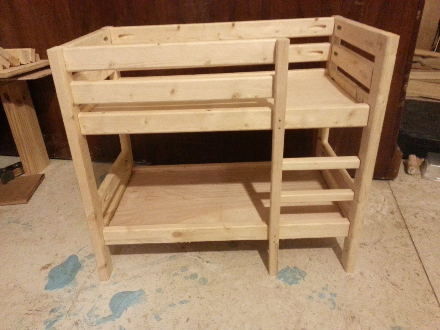 Wonderful image of Wooden Doll Bunk Bed for 18 Dolls or smaller by KaseysKustomKrafts with #381B0E color and 1500x1125 pixels