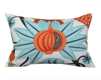 Osborne and Little Maharani Lumbar Pillow Cover in Turquoise