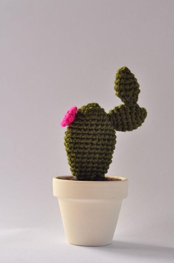 Amigurumi Flower Pot : CACTUS amigurumi crochet handmade in flower pot by MaryDdesign