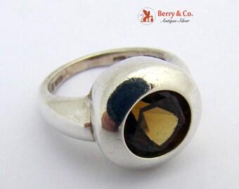Smoky Quartz Ring Sterling Silver