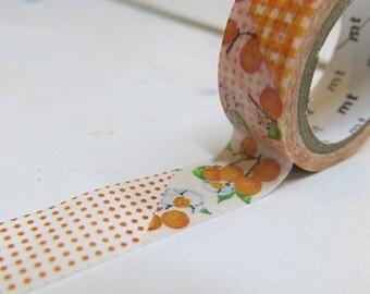 MT  ex Washi Masking Tape /  Flower Orange