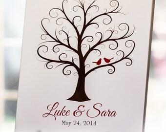 Thumbprint Tree - 18x24 - 225+ Guests - Wedding Fingerprint Tree - Guestbook - Wedding Guest Book - Wedding Tree -CB - 18x24