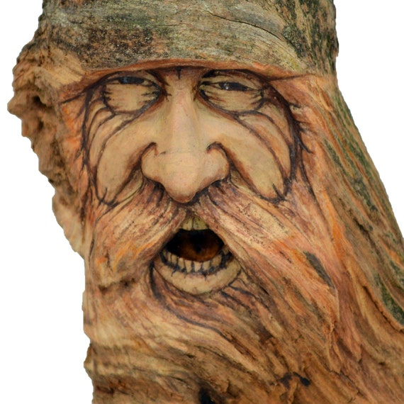 Wood spirit carving josh carte ooak handmade woodworking - Video de sculpture sur bois ...