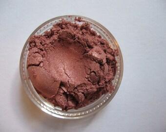 "Red Eyeshadow - ""Half Burnt Bear""- Soft Red Shimmer Glitter Eye Shadow - Soft Red Makeup - Vegan Mineral Eyeshadow - Loose eyeshadow"