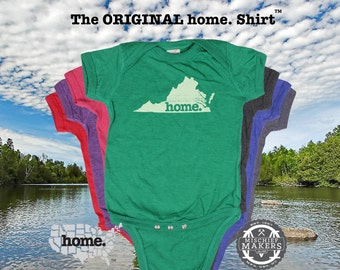 Virginia home Baby Bodysuit purple green pink green