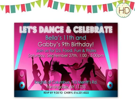 Carte Invitation Anniversaire Danse, Cartes... | fiolazoezoey blog