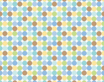 Doodlebug Designs for Riley Blake, Snips & Snails Dots Multi Fabric 1/2 Yard