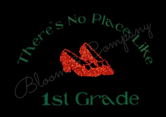 items similar to there 39 s no place like 1st grade wizard of oz ruby red slippers women 39 s t shirt. Black Bedroom Furniture Sets. Home Design Ideas