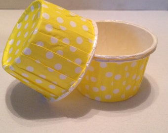 Yellow Polka Dot Snack Cups