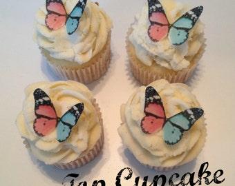 Gender Reveal Themed Edible Butterflies - 12