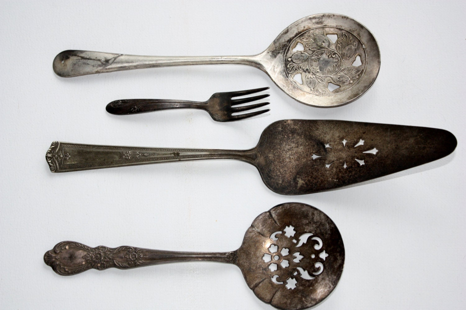 Vintage Silver Plated Serving Spoons