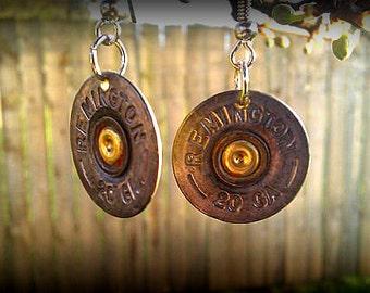 20 Gauge Shotgun Dangle Earrings