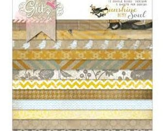 """Glitz Design Sunshine in My Soul, 8"""" X 8"""" Paper Pad, Srapbooking Supplies, Papercrafting Supplies"""
