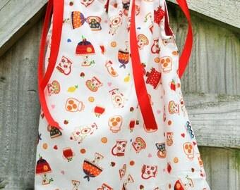 Baby Dress - Tea Party Dress - 18mths Dress - Baby Tea Party Dress - 100% Cotton Fabric - Satin Ribbon - Baby Dress Top