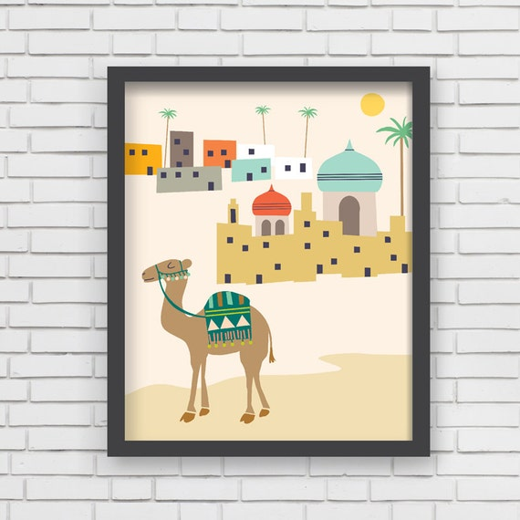 Items Similar To Middle East Home Decor Camel Nursery Wall