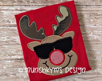 Cool Mister Reindeer Applique