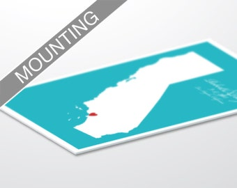 Add White Styrene Mounting to Your Print Order
