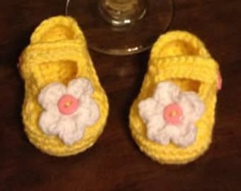 Mary Jane Booties - Baby shoes, baby booties - Mary Janes