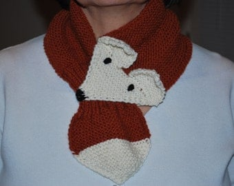 Knitted Fox Scarf Pattern