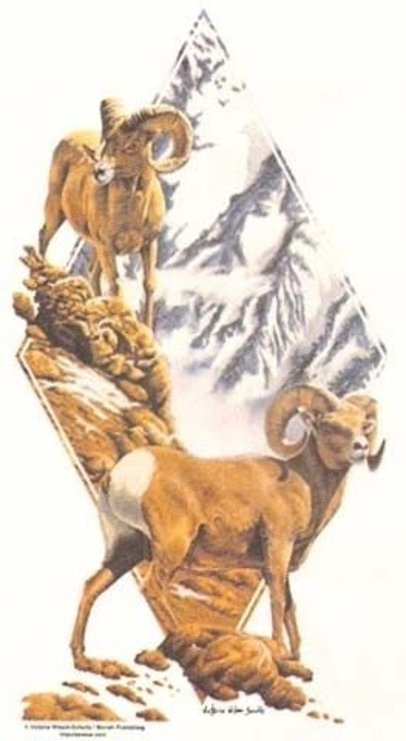 Bighorn Sheep T SHIRT Sweatshirt Quilt Fabric Block Tote : big horn quilts - Adamdwight.com