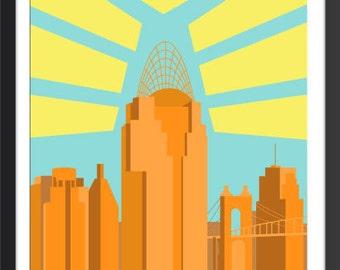 Cincinnati Art Deco Poster