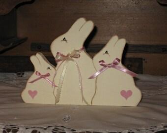 Handmade Wooden Easter Bunny /Spring Decoration