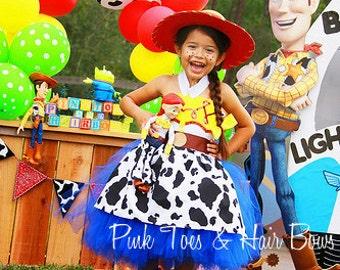 Toy story Tutu dress- Jessie tutu dress- Jessie toy story dress- Toy story costume