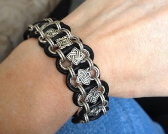 Celtic Knotwork Woven Chain Bracelet - Made to Order