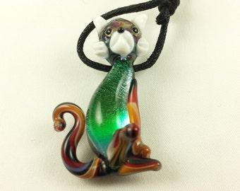 Cat - Glass Pendant Necklace