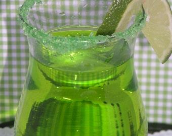 Lime Green Rimming Sugar w/ lime flavor 4oz