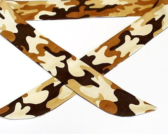 Camouflage Cooling Bandana, Desert Camo Neck Cooler Headband , Stay COOL Tie Wrap Body Head Heat Relief, Hunters Eco Cooling Band iycbrand