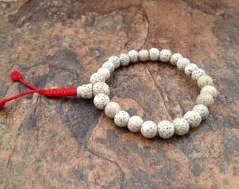Tibetan Lotus Seed Stretch Wrist Mala Bracelet