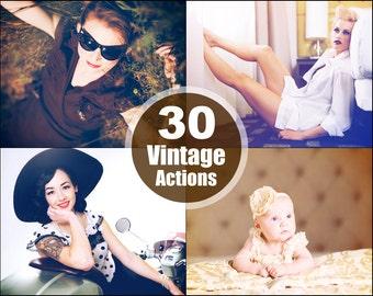 Vintage Photoshop Elements Action