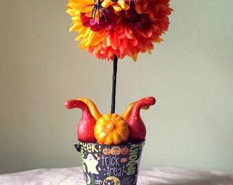 Halloween Centerpiece,HalloweenArrangement,Halloween Decoration,Fall Pumpkin Gourd Centerpiece,Fall Topiary,Halloween Centerpiece,Fall decor