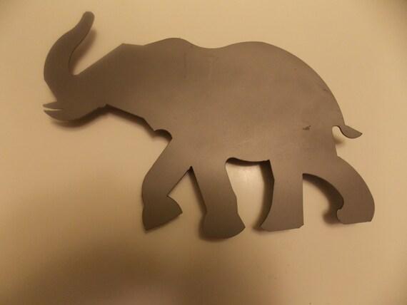 Metal Elephant Wall Decor : Large elephant metal wall art by cuttingedgecraftsmen on etsy